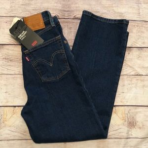 Levi's Ribcage Straight Ankle Button Fly Jeans